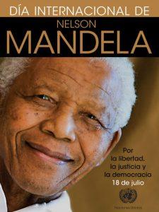 El 18 de julio se celebra el Día Internacional de Nelson Mandela.