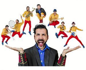 Marabunta, show de clown moderno sin nariz de payaso, con música en directo.
