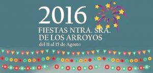 Cartel de las fiestas de Nuestra Señora de los Arroyos.