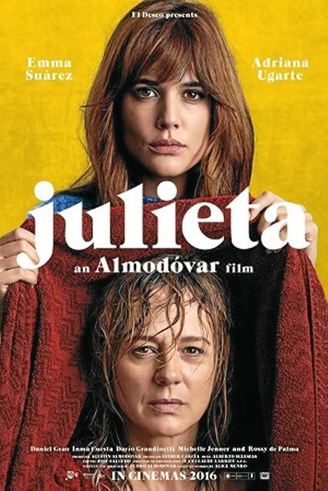 Cartel de Julieta, una de las películas que va a proyectarse.