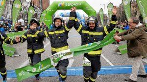 Llegada a meta en la VI Carrera Iberdrola Bomberos de Madrid.