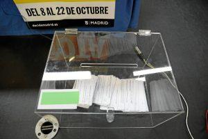 Se puede votar ya a través de la web decidemadrid.es y presencialmente los días 21 y 22 de octubre en las once plazas.